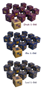 Blue Starry Dice
