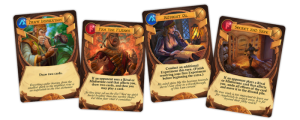 Examples of some of the new cards from the Game Salute edition